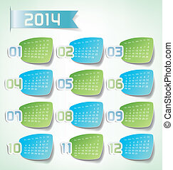 2014 Yearly Calendar print