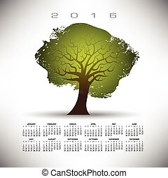 2016 Abstract tree calendar
