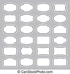 24 blank labels set (vector)