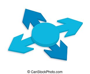 3d Arrows Direction Vector Illustration
