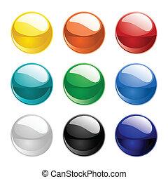 3d Color vector spheres