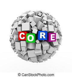3d cubes boxes sphere ball - core