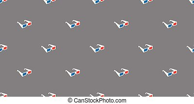 3d glasses vector Seamless Pattern isolated repeat wallpaper tile background