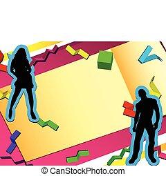 3D Paper Cut Party Background
