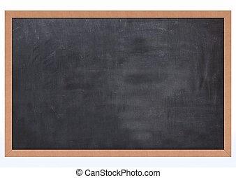 3D Render of a Blank Chalk Board