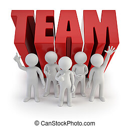 3d small people - reliable team