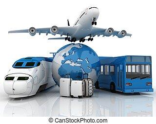 3d travel background