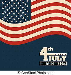 4th july independence day flag united states of america