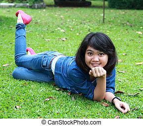 a beautiful smiling young girl