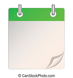 Illustration of a blank calendar on a white background.