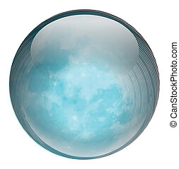 Illustration of a blue ball on a white background