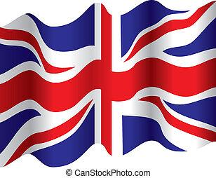 a british flowing flag