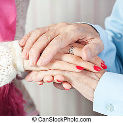 a care is at home of elderly