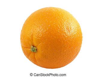 a close-up on a orange