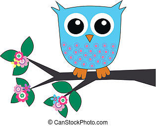 a cute little blue owl