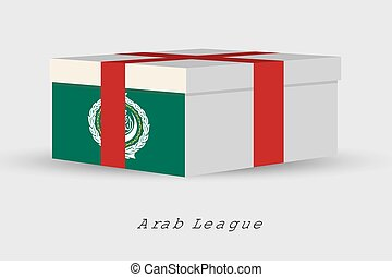 Gift Box with the flag of Arab League