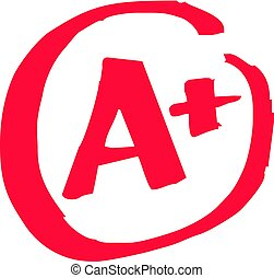 The top A+ grade for exam results in vector