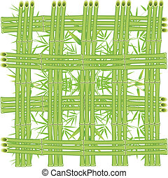 A grid of bamboo stalks