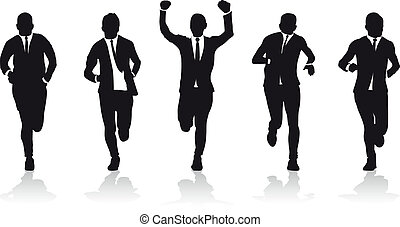a group of business runners