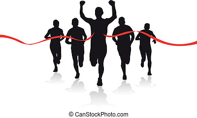 a group of runner silhouettes