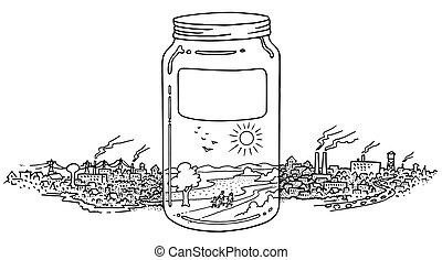 A jar full on clean environment