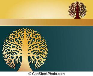 two round trees