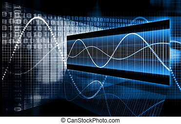 A Multimedia Technology Data as Art Background