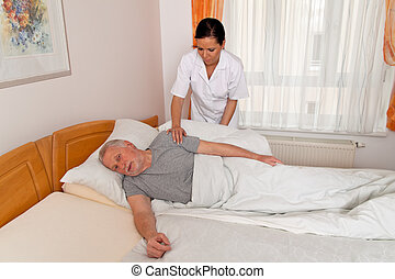 nurse in aged care for the elderly