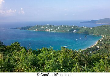 a picture of megans bay in St. Thomas USVI