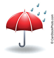 Illustration of a rainy weather on a white background