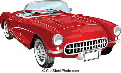 A red convertible vette