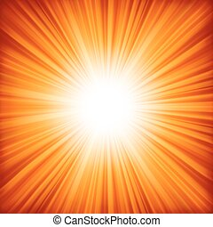 A red - orange color design with a burst. EPS 8 vector file included