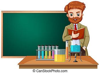 A science teacher in classroom
