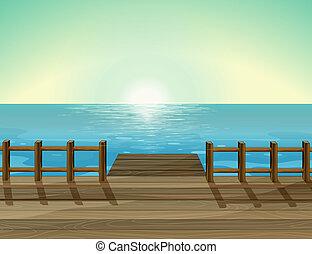 Illustration of a sea scenery