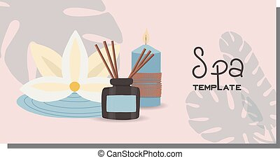A set of cards with abstract leaves. Design template for the hotel, beauty salon, spa, restaurant, club. Vector illustration