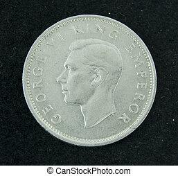 A silver New Zealand coin