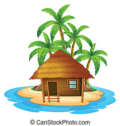 A small house in the island