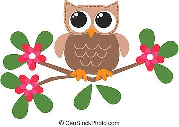 a sweet little brown owl