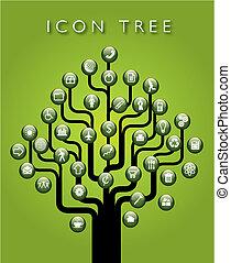 A vector icon tree