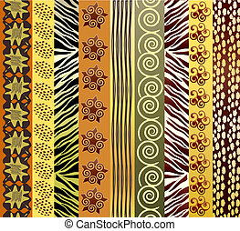 A vector illustration of African fabric in earthtones