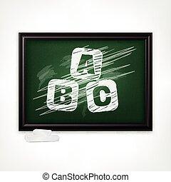 ABC on blackboard