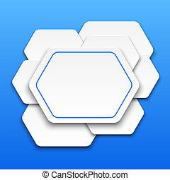 Abstract 3D background with polygons.