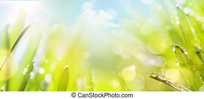 abstract art spring Nature background