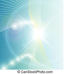 Abstract background fantasy lines with glowing lights, vector.