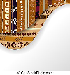 Abstract background with African elements