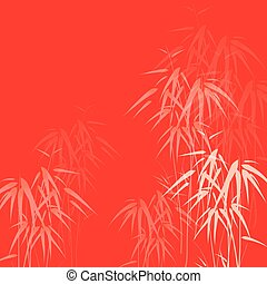 Abstract background with bamboo