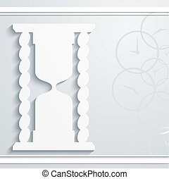 Abstract background with hourglass
