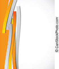 Abstract background with orange lines