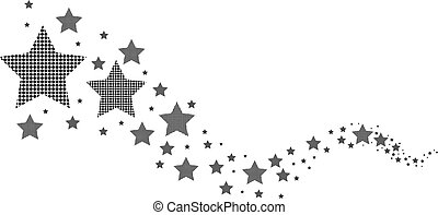 abstract black and white stars
