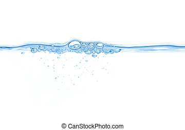 abstract blue water bubbles background